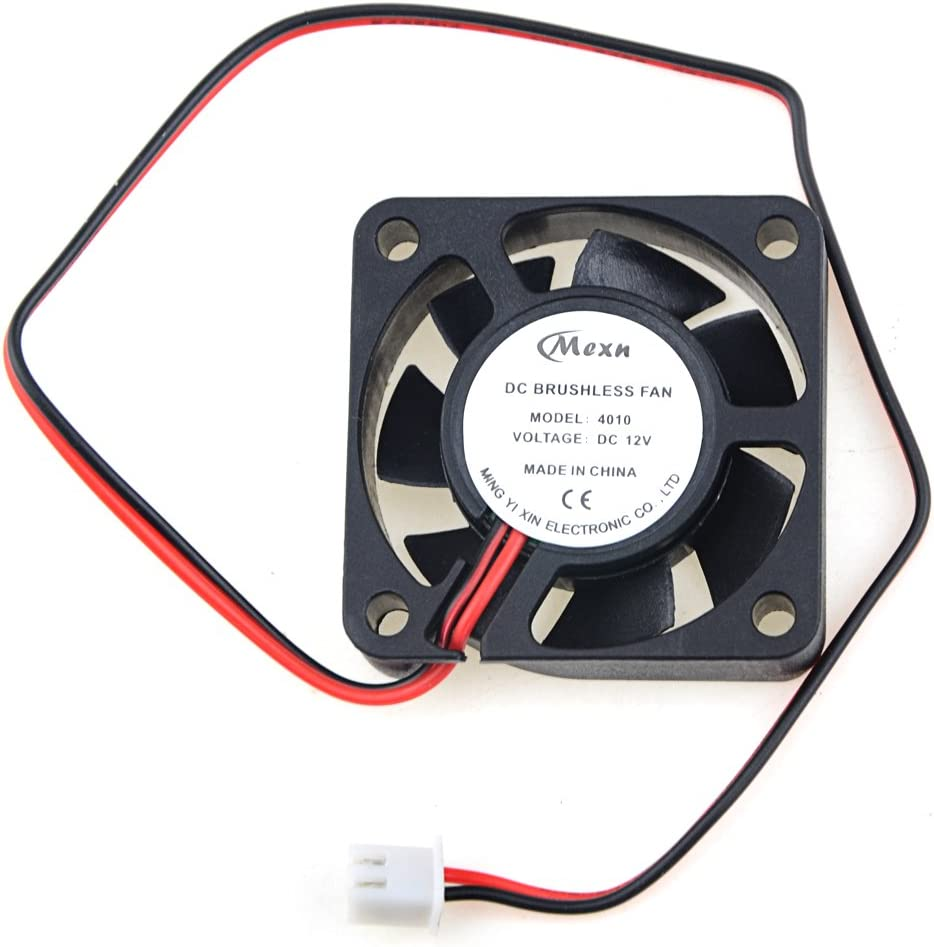 DC Brushless Cooling PC Computer Fan 12V 0.1A 4010 40x40x10mm 3 Pin Wire Fan UE