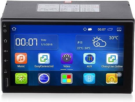 Automóvil Reproductor de DVD del Coche Android, 7 pulgadas 2 din ...