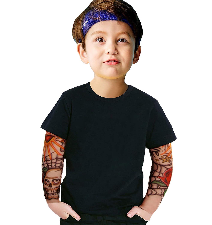 Amazon.com: Coralup - Camisa de algodón con manga de tatuaje ...