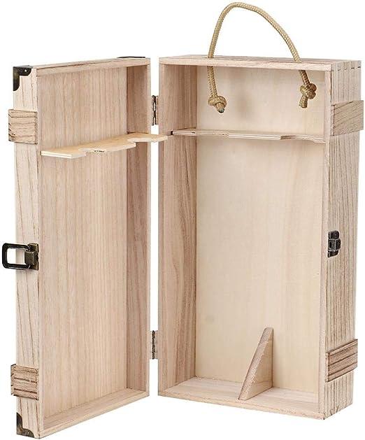 Sorand Caja de Vino Tinto, Retro Vintage portátil de Madera 2 ...