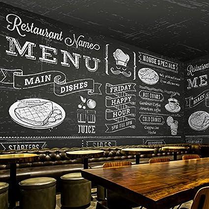 Tantoto 3D Wallpaper Dessert Gourmet Bevande Sulla Lavagna Menu Murali Di Grande Caffe Informale Tea