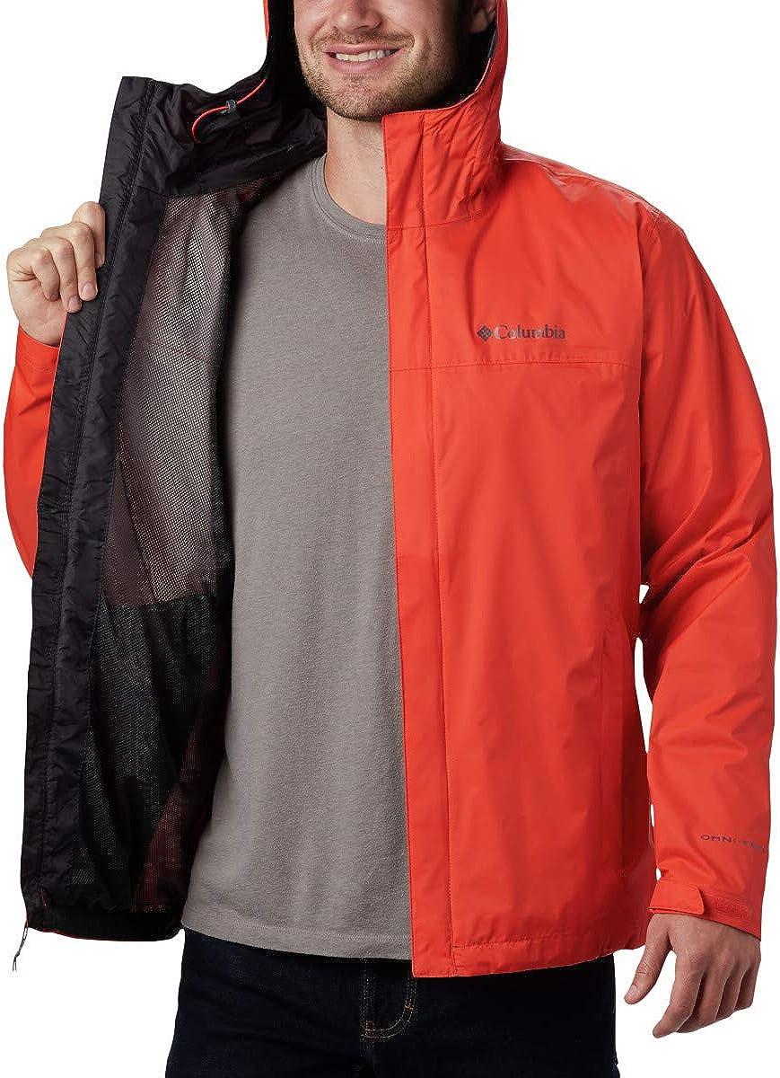 Columbia Mens Watertight II Front-Zip Hooded Rain Jacket Waterproof /& Breathable
