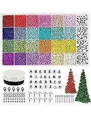 Deesen 12.000 glasparels alfabet kralen AZ en hartvormige kralenset voor doe-het-zelf sieraden/armband/halsketting