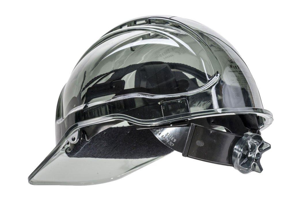 Vert Portwest Pv64gnr S/érie Pv64/Peak View /à cliquet Translucide rigide casque de chapeau Regular