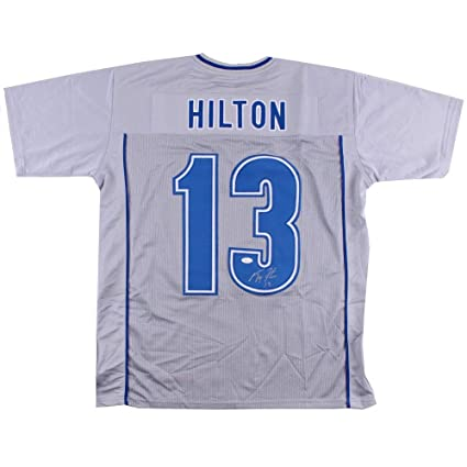 save off ba408 b59ab Authentic T. Y. Hilton Autographed Signed Grey Custom Jersey ...