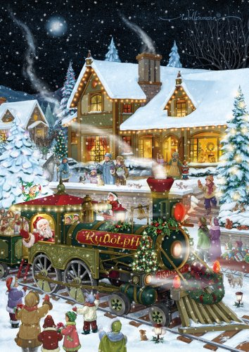 Santa's Train Christmas Card Advent Calendar