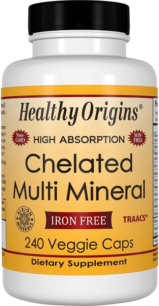 Healthy Origins Chelated Multi Mineral (featuring Albion Minerals), 240 Veggie Caps