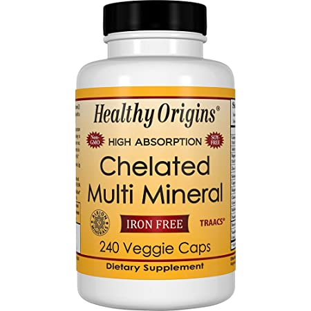 Healthy Origins Chelated Multi Mineral (Featuring Albion Minerals), 240 Veggie Caps by Healthy Origins