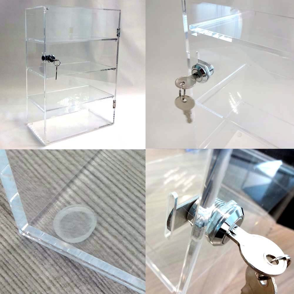 Acrylic Lucite Countertop Display Case Showcase Box Cabinet 12'' X 6'' X 16'' by Marketing Holders (Image #3)