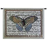 Fine Art Tapestries ''Butterfly Dance II'' Wall Tapestry, Large