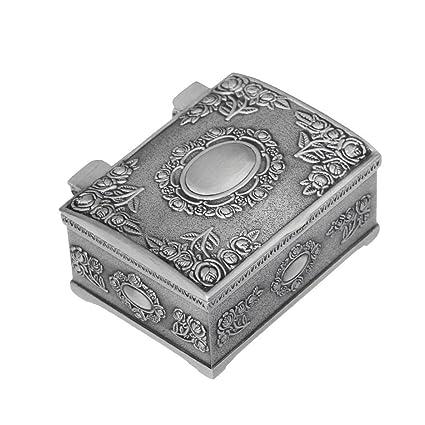 Amazoncom Vintage Engraving Tin Zinc Square Jewelry Box Gift