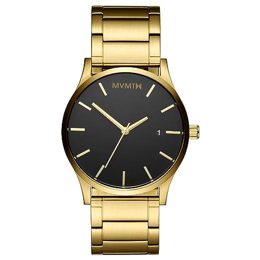 Mvmt relojes oro caso con oro pulsera de acero inoxidable reloj de pulsera para hombre: Amazon.es: Relojes