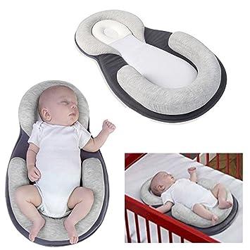XIAOMIN Almohada De Protección para Bebés Esteras para Dormir Almohadas para Lactantes Cunas Portátiles Reclinables para Bebés Y Colchones para Bebés Recién ...