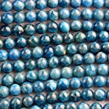 Natural Apatite Round Findings Jewerlry Making Gemstone Beads (6mm)