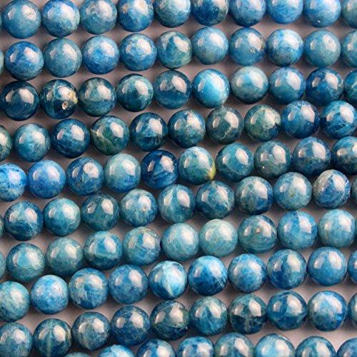 Natural Apatite Round Findings Jewerlry Making Gemstone Beads (6mm)