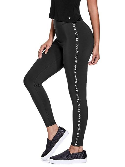 d91ee6da5ee775 Guess Factory Women's Cuddy Logo Stripe Leggings: Amazon.ca: Sports ...