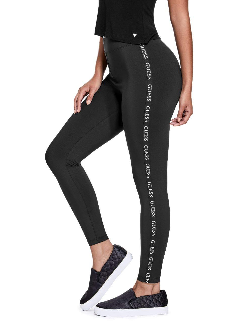GUESS Factory Women's Cuddy Logo Stripe Leggings