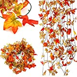 10pcs Artificial Ivy Maple Plastic Fake Leaves Garland Home Garden Decoration
