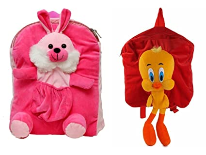 Buy Sana Combo (Pack of 2) Offer Kids School Bag Multipocket Rabbit with  Yellow Duck Soft Toy Bag Children s Gifts Boy Girl Baby Decor School Bag  for Kids ... c8bb3660977a9