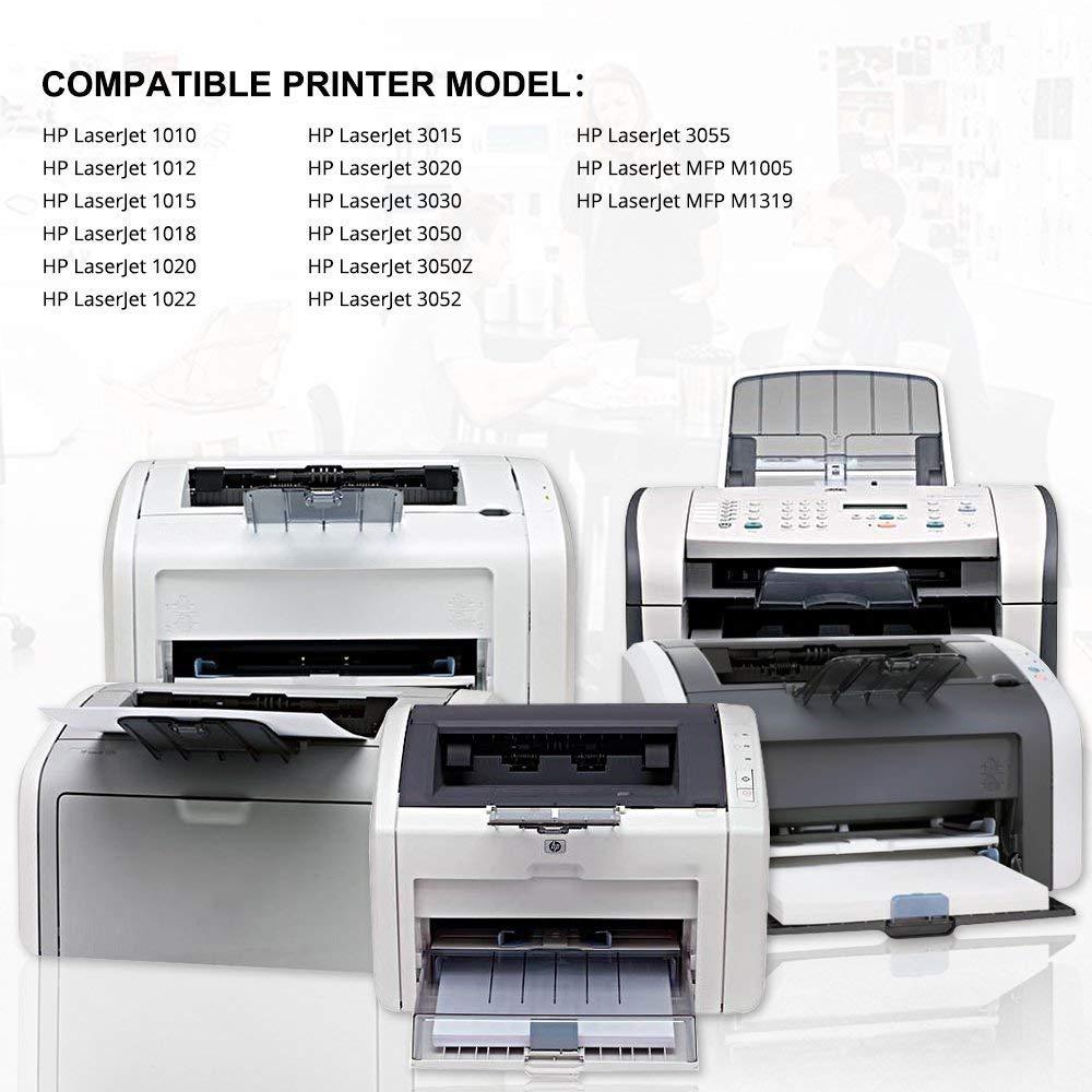 Printstar 12A Black Toner Cartridge for HP LaserJet  1010/1012/1015/1018/1020/1022/1022n/3020/3030/3050/3052/3055/M1005/M1319f  Single Colour(Black)