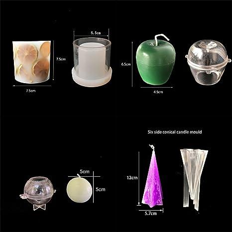 Oameusa 4 moldes para hacer velas, moldes para hacer velas, juego de moldes de