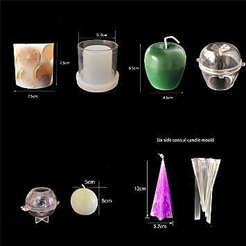 Oameusa 4 moldes para hacer velas, moldes para hacer velas, juego de moldes de velas de plástico para hacer velas: Amazon.es: Juguetes y juegos