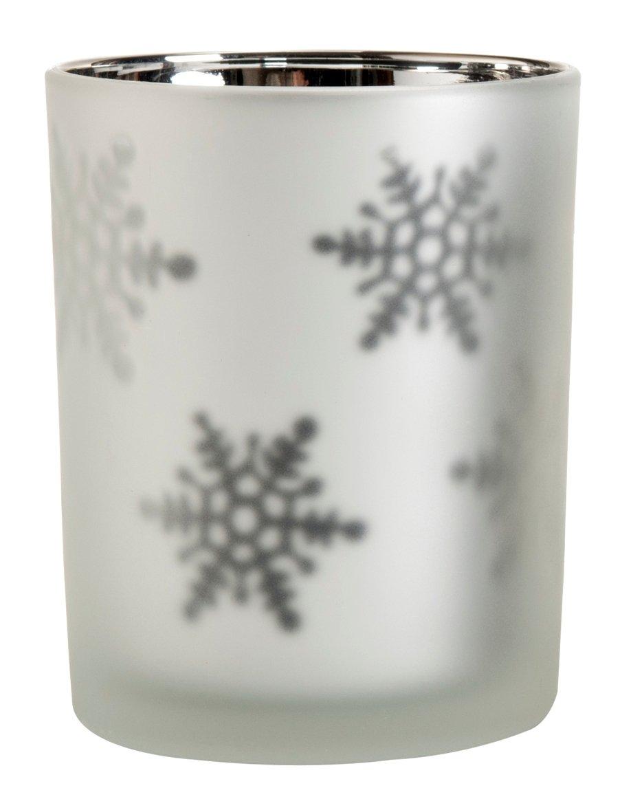 Shiraleah Snowflake Votive Holder, Large, Pearl 08-04-006PRL
