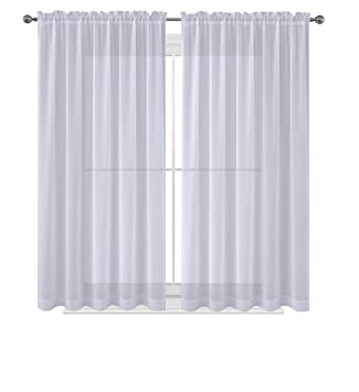 Amazoncom Wpm 60 X 63 Inches Sheer Window Elegance Curtainsdrape