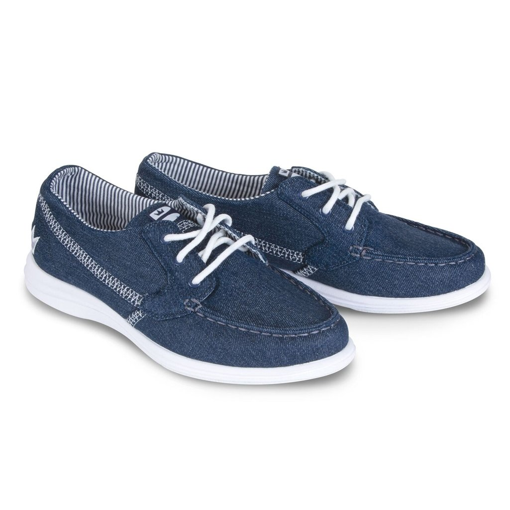 Brunswick Karma Denim Women's Bowling Shoes, Denim, 11 by Brunswick