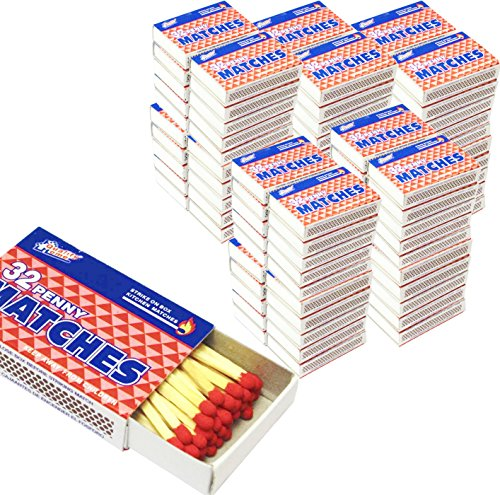 100 Packs Matches 32 Count Strike on Box Kitchen Camping Fire Wholesale Lot Bulk]()