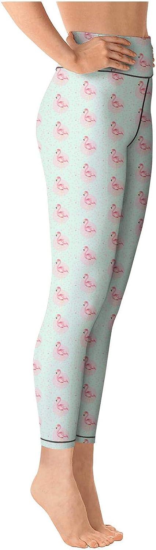 Womens Yoga Pants Cute Flamingo Light Long Yoga Pants Yoga Leggings with Pockets