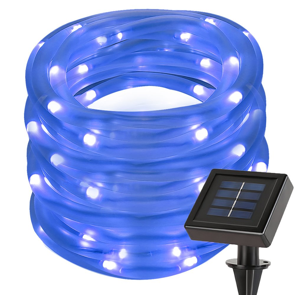 Solar Rope Lights Ebay: LE 33ft 100 LED Solar Power Rope Lights Waterproof