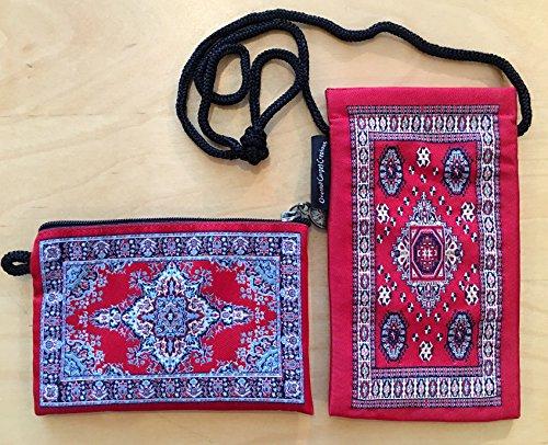 Oriental Fabric Case (Oriental Carpet Eyeglass Case & Coin Purse - Authentic Woven Carpet - Design)
