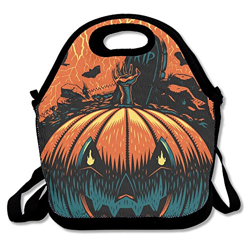 NaDeShop Halloween Pumpkin Decor Lunch Bag Tote (Halloween Lunch For School)
