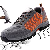 Work Safety Shoes for Men Women Steel Toe Composite Sneakers Casual Breathable Light Weight Outdoor Footwear Slip Resistant Summer Unisex