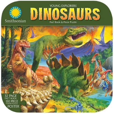 B00LO4B5K0 Smithsonian Young Explorers Dinosaurs Floor Puzzle Fact Book Poster NEW 61RNzyzQ8pL