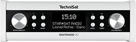 TechniSat DIGITRADIO 20 – Modernes & kompaktes DAB+ Küchen- & Badezimmerradio – Empfangstarkes UKW Unterbauradio mit Uhr