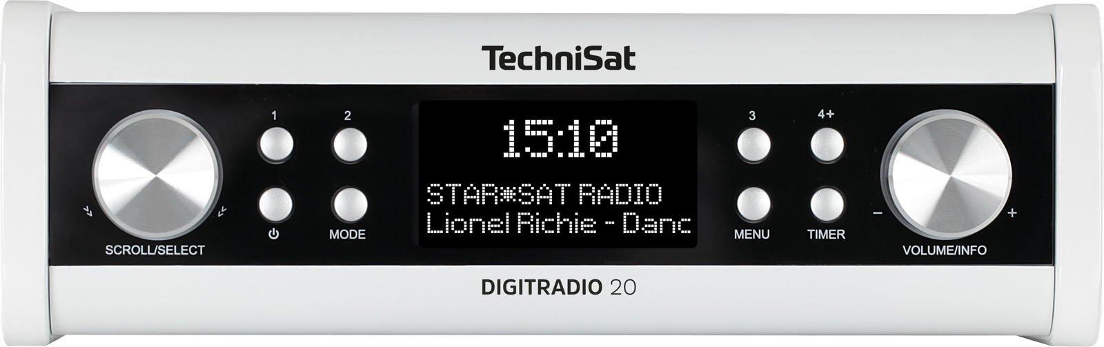 TechniSat Digitradio 20 Küchenradio (DAB+, Unterbau-Radio, Timer, Kopfhörerausgang, Aux-in) weiß product image