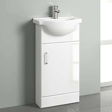 sink with vanity unit. White Gloss Cloakroom Basin Vanity Unit Sink Cabinet Bathroom Storage  Furniture