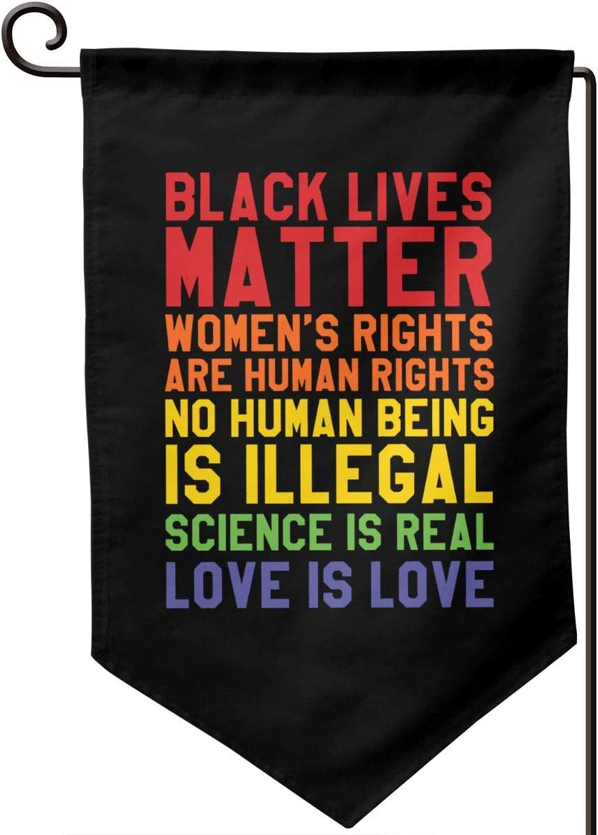 AIJEESI Black Civil Rights Black Lives Matter Garden Flag Double Sided,Holiday Outdoor Decorative for Home House Garden Yard Lawn
