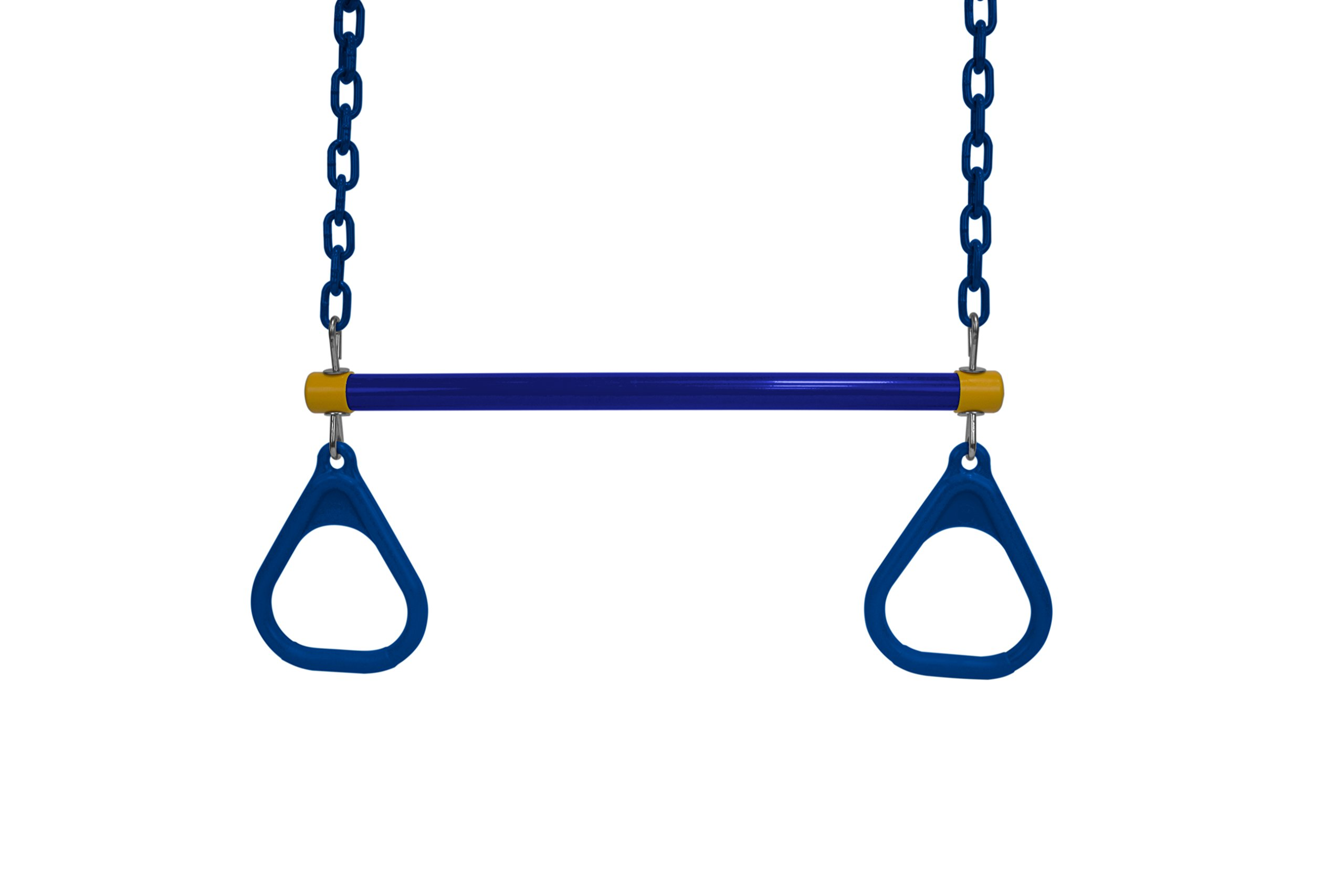 American Swing Blue Trapeze Bar with Blue Rings - Trapeze Bar Combo - Residential Only by American Swing Products