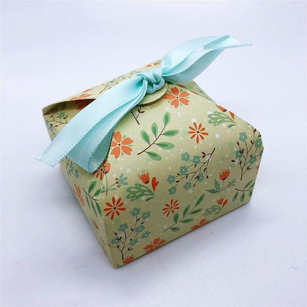 NCHENKD - Caja de Galletas para Magdalenas (10 Unidades), diseño de Flores: Amazon.es: Hogar