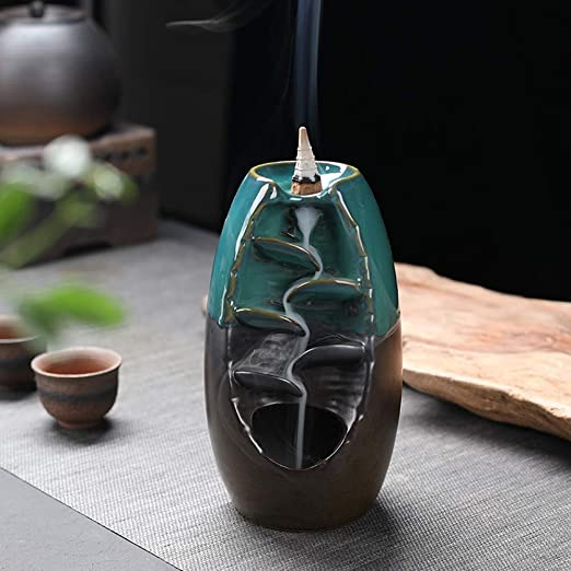 Censer Ceramic Handcraft Backflow Incense Burner Incense Holder Home Decor