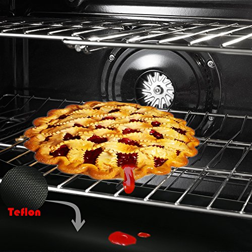 - 4 x The Elixir Eco Green Large Heavy Duty Teflon Non-Stick Reusable Oven Liner or Pan Liner for Gas, Electric & Microwave Ovens - Works as Baking Mat & Grill Mat (Total 4 Liner)