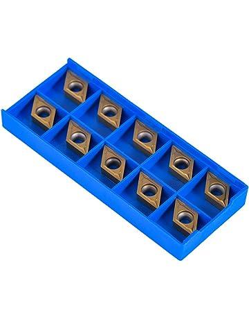 10pcs Cortadores de Inserto Cuchillos de Inserciones de Carburo Cortador de Insertos de Forma de Diamante
