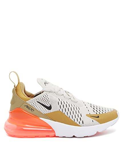 good service best selling newest NIKE Shoes Woman Sneaker AIR MAX 270 Flat Gold in White and ...