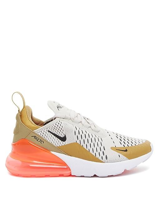 Nike W Air Max 270 - flt Gold/Black-Light Bone-Whit - Freizeit ...
