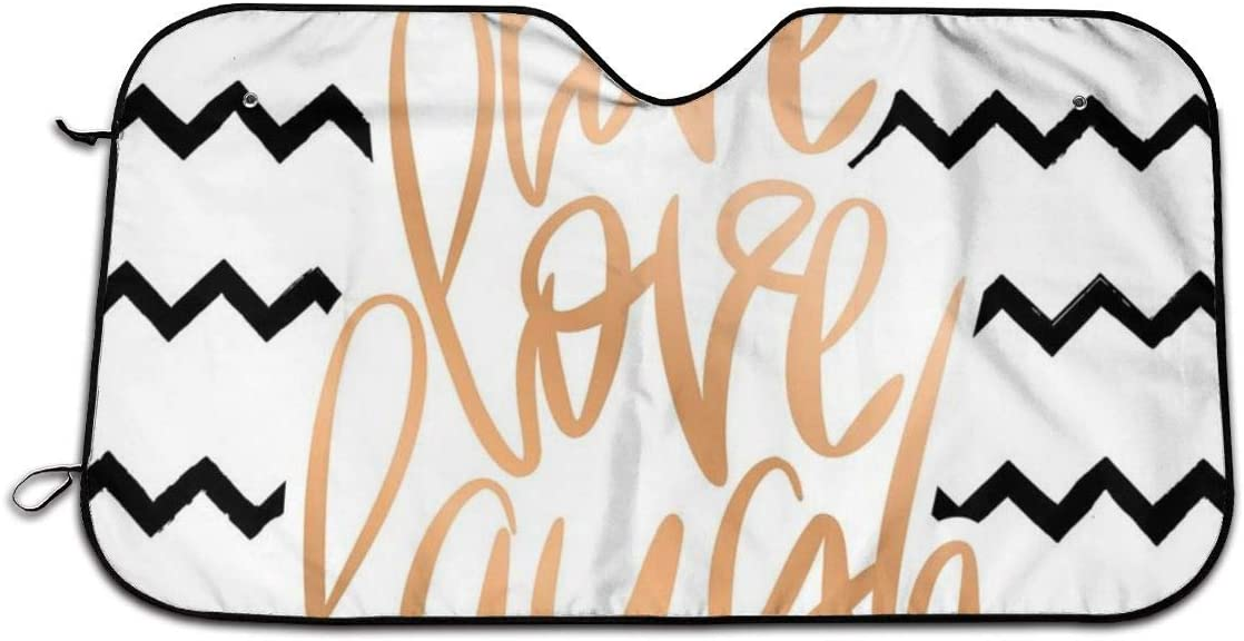 Llynice D/écoration calligraphique avec Zigzags /à Rayures Chevrons Pare-Soleil pour Pare-Brise de Voiture