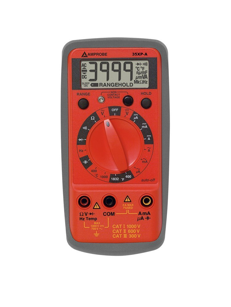 Amprobe 35XP-A Compact DMM with Temperature, Frequency, and Capacitance by Amprobe (Image #1)