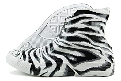 1259d0beb8ee Image Unavailable. Image not available for. Color  Chuck Taylor All Star  Shroud Hi White Black Dolphin Animal Print